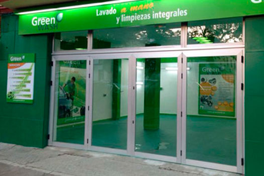Franquicia local comercial green wash