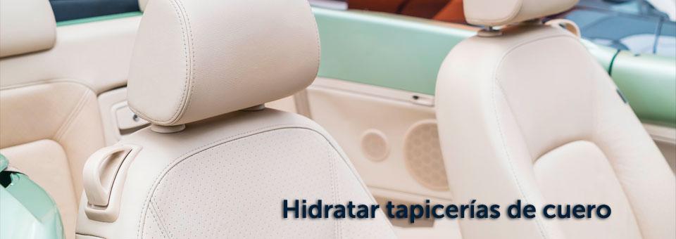 ¿Cómo hidratar tapicerías de cuero del coche?