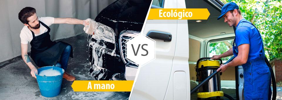 ¿Cuál es la diferencia entre lavar a mano y lavado ecológico de coches?